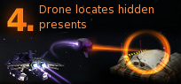 Pirate Galaxy - Drone locates hidden presents