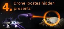 Pirate Galaxy - Drone locates hidden presents